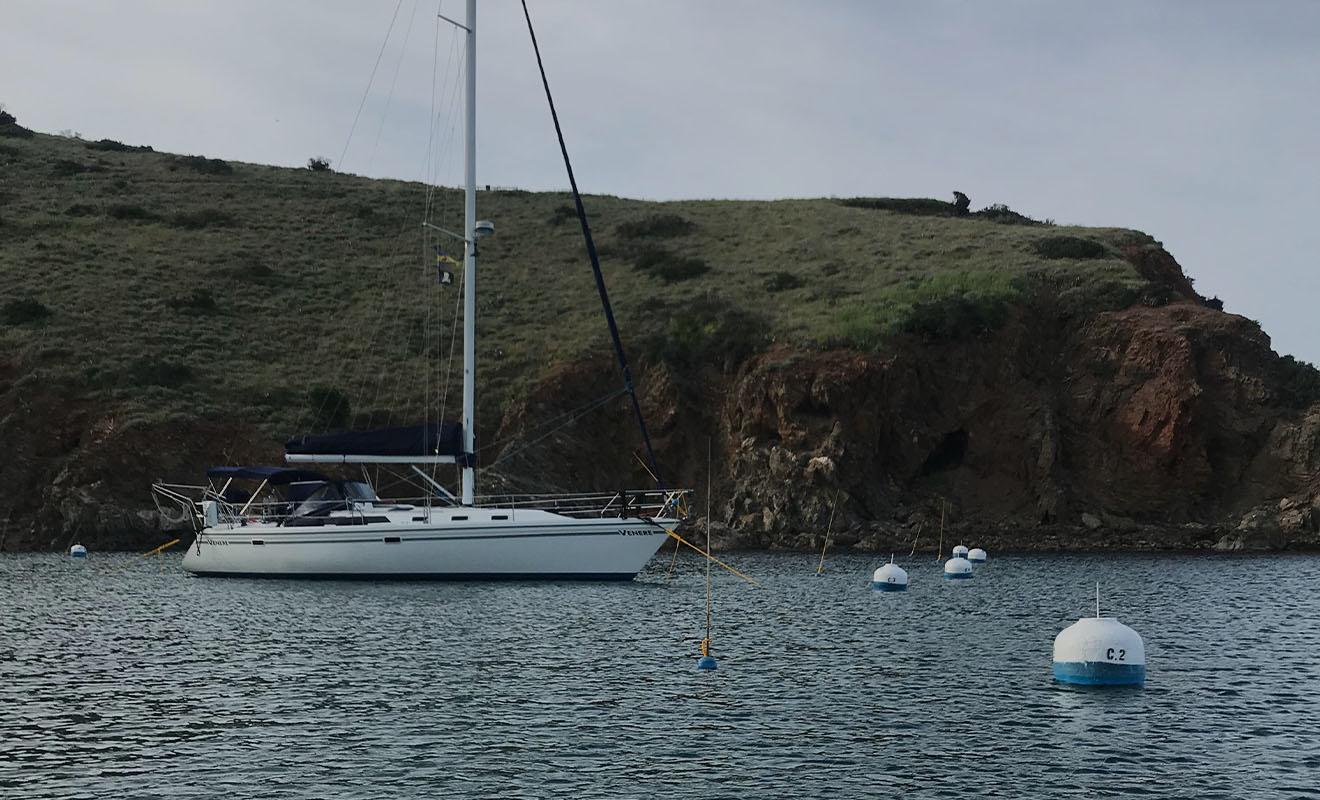 Venere Sailboat Anchored at Santa Catalina Island